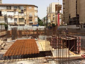 מצב הבניה 22 באפריל אמצע אפריל 15- בתנופת בניה