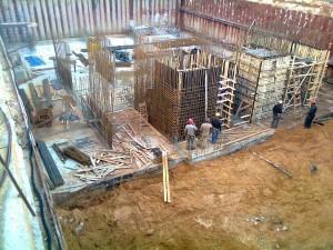 ינואר 2015 - החלו בבניית המתקנים התת קרקעיים